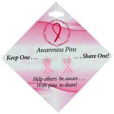 Breast Cancer Awareness Pink Ribbon Pins (Set of 2)