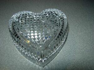 SET OF 2 MIKASA STUDIO CRYSTAL HEART SHAPE JEWELRY/TRINKET BOXES--#P13-V5