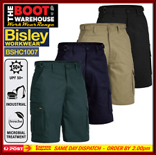 Bisley Men's Cargo Work Shorts BSHC1007. Original Pre-Shrunk Cotton 8 Pockets