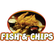 Fish Amp Chips Concession Decal Sign Cart Trailer Stand Sticker Equipment