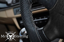 FOR SKODA FABIA II 07+PERFORATED LEATHER STEERING WHEEL COVER GREY DOUBLE STITCH