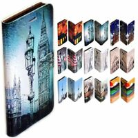 For Apple iPhone Series - City Landmark Print Wallet Mobile Phone Case Cover