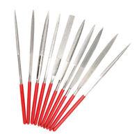 10 Stück 140mm gestellten Mini Nadel Diamantfeile praktische Tools für Glas