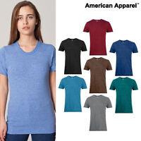 American Apparel Tri-blend track tee (TR401) Plain Casual Short Sleeve T-Shirt