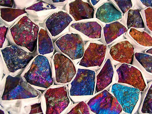 Peacock ore chalcopyrite with blues/reds Mexico 1/2 pound lot 5-10 pieces