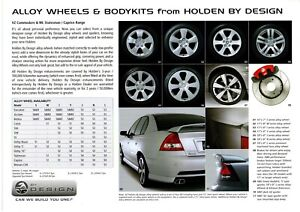 Holden Commodore VY VZ era HDB Accessories Sales Brochure