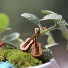 10pcs/ Miniature GUITAR Fairy Garden Terrarium Figurine Decor DIY Bonsai Crafts