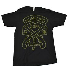 Mumford & Sons Pistols London Black Sz M Tee T-Shirt New Official Soft Cotton R1