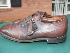Men's Vintage DEXTER Brown Leather Golf Shoes, Steel Cleats Buckle Brown Size 11