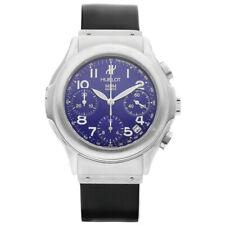 Hublot 1810.730.1 Blue Dial Chronograph 40mm Steel Rubber Automatic Wrist Watch