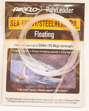 AIRFLO Polyleader Sea Trout Steelhead 8ft 2,40Mtr. CLEAR FLOATING