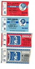 New Listing1975-1981 Duke Football Ticket Stubs, lot of 4