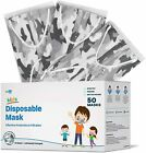 WeCare Disposable Face Mask, 3-Ply 50 Individually Wrapped for KIDS - White Camo