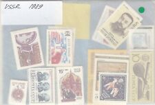 Russia USSR 1989 full complete year set MNH 6 souv. sheets + Admirals mini sheet