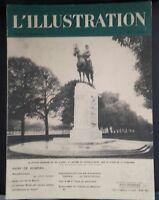 Rivista per Lettera Settimanale L Illustrazione N° 4989 Statua Del Re Albert
