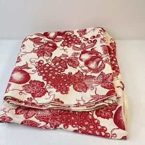 Terrisol Tablecloth oblong rectangle 60x120 red fruit garden floral  100% cotton
