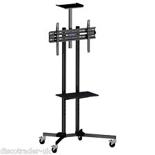 TROLLEY STAND FOR FLAT SCREEN TV 32 - 65 INCH for SCHOOL MEETINGS KARAOKE A195A