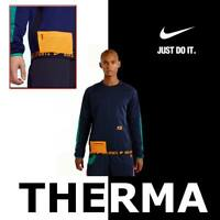MEN'S NIKE THERMA HIGH-TECH WARM FLEECE SWEATSHIRT TRAINING LS BV3299-498 MEDIUM