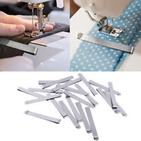 20PCS Home Stainless Steel Hemming Clips 3Inch Measurement Ruler Sewing Clips