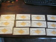 DEALER / COLLECTOR LOT OF 12 FIRST NATIONAL BANK OFWEST CHESTER,PA.DATED 1877