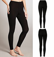 NEW WOMEN LADIES THICK WINTER THERMAL LEGGINGS FLEECE LINING SIZE 6-16