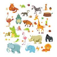Wall Jungle Animal Decal Stickers Kids Nursery Room Safari Mural Art Decorations