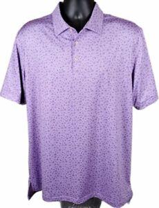 Peter Millar Summer Comfort Jimi Hendrix Pattern Golf Polo Shirt Mens Size Large