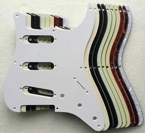 Stratocaster SSS Pickguard 8 hole 50s Style Strat US/MiM/MiJ/Blank, many colours