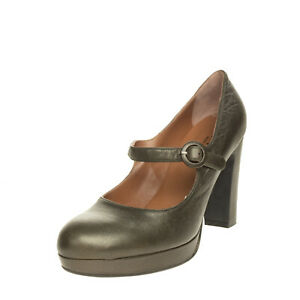 RRP €120 LES:VENUES Leather D'Orsay Shoes EU 40 UK 7 US 10 Heel Made in Italy