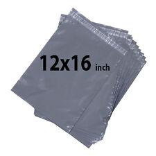 12x16 bolsas de correo 100X Gris fuerte Poly Postal franqueo Post Mail Sello del uno mismo ukdc