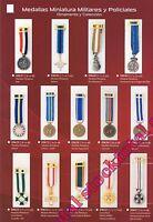 Medallas miniatura militares ornamento y coleccion 19