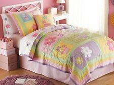 Sweet Helen Twin (Single) Quilt Set : Teen Girls Pink Purple Flower Patchwork
