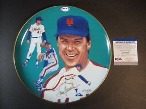 "TOM SEAVER HAND SIGNED AUTOGRAPHED HACKETT 10"" LIMITED COLLECTIBLE PLATE PSA"