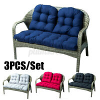 3PCS Recliner Chairs Cushion Non-Slip Garden Furniture Patio Relaxer Soft Pad