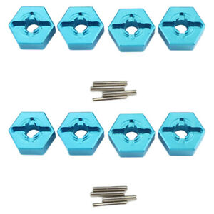 8Pcs Wheel Hub Hex Adapter Fit For Wltoys 144001 1:14 124019 RC Car Parts