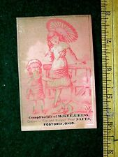 1870s-80s McKee & Hess Fire & Burglar Proof Safes, Fostoria, Ohio Trade Card F22