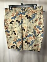 Goodfellow & Co Mens Tropical Linden Shorts Flat Front Size 30