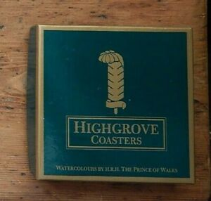 HIGHGROVE COASTERS SET, with WATERCOLOURS BY HRH THE PRINCE OF WALES