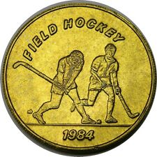 elf 1984 Olympics Bus Token  Field Hockey