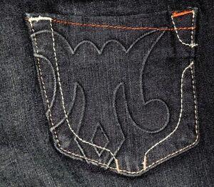 NWT MEK BRANT Slim Fit Boot Leg Handcrafted Women's Dark Blue Jeans Sz 26x34