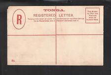 Tonga: Postal Stationery (4 pence) for registration cover, red cross, TG094