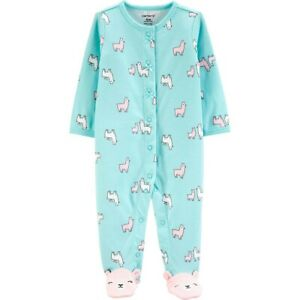 Carter's Baby Girl Llama Snap-Up Cotton Cotton Sleep & Play ~ 3M ~ NWT
