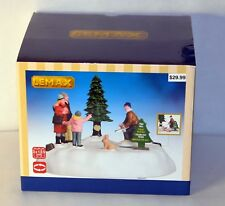 NEW LEMAX CHRISTMAS VILLAGE ANIMATED PINE HILL TREE FARM TABLE ACCENT NIB