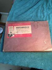 Autobridge Contract Bridge 1939 Masonite Board. Teaches How To Play Bridge!