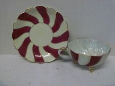 Unmarked- Tea Cup and Saucer- Cool Design
