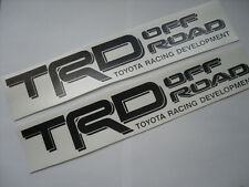 2 Toyota TRD 4x4 Off Road All Black Decals Stickers Tacoma 4runner Tundra