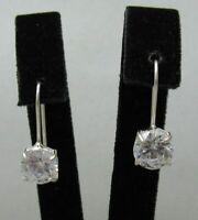 Sterling Silber Ohrringe mit 8mm Zirkonia massiv punziert 925 handgefertigt