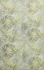 BLACK FRIDAY DEAL Nature Print Modern Wool/ Silk Hand-tufted Tropical Rug 5x8 ft