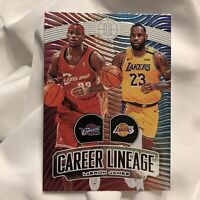 2019-20 Panini Illusions LeBron James Career Lineage No. 23 Basketball Ball Card
