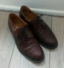 Florsheim Imperial Brogues Ploited All Leather Ploited Burgundy Brown UK 9